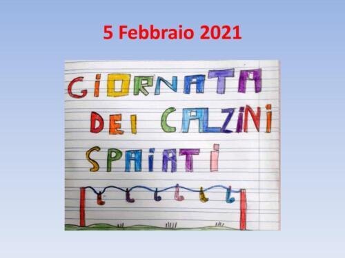 5 Febbraio 2021 - Giornata dei Calzini Spaiati