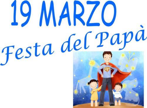 19 Marzo 2021- Festa del papà